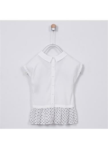 Panço Kız Çocuk Gömlek 2011GK06003 Beyaz